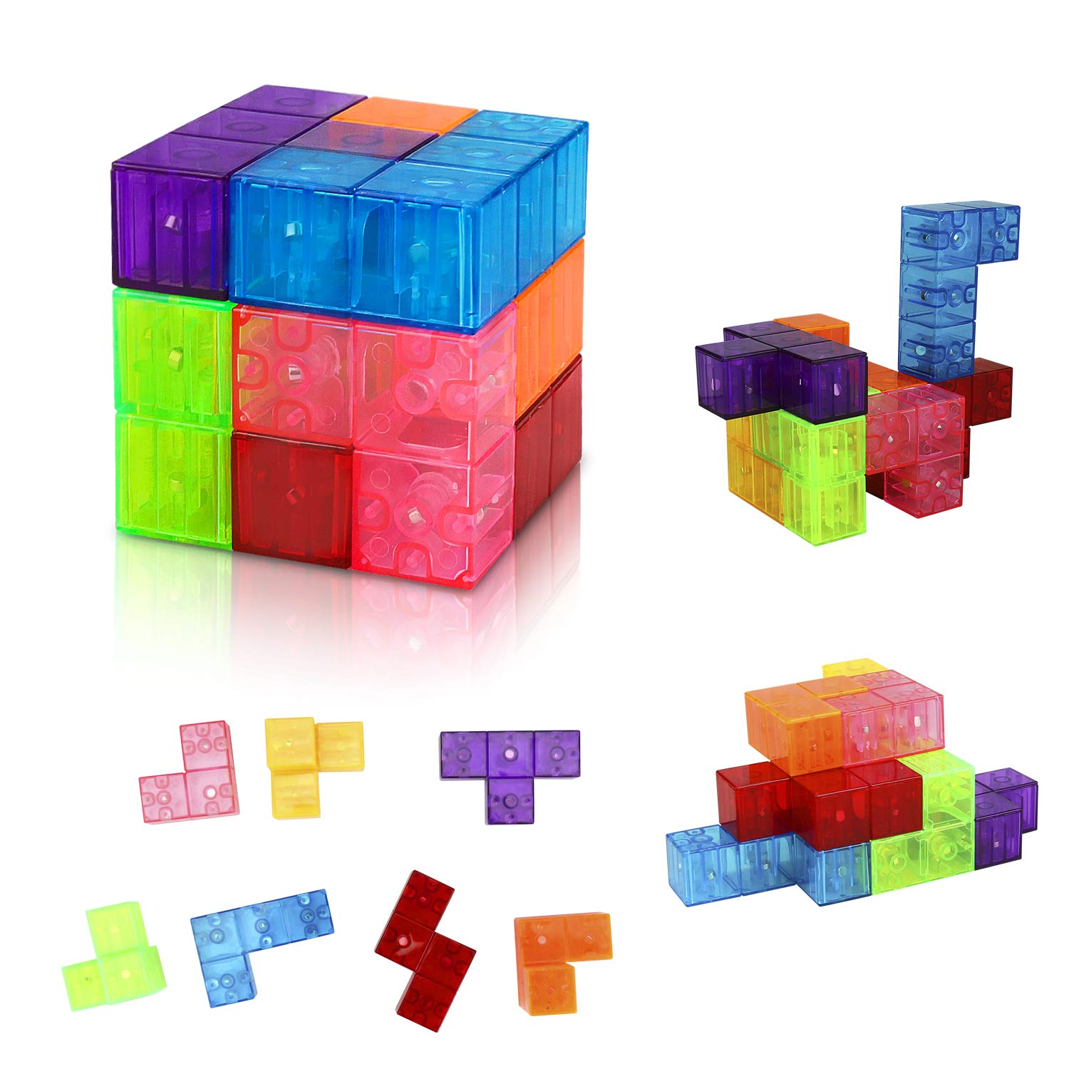 welltop Magnetic Toys Magic Cubes Magnet Blocks for Kids Magnetic Building Blocks Bricks Toy for Adults, Stress Relief, Educational Puzzles