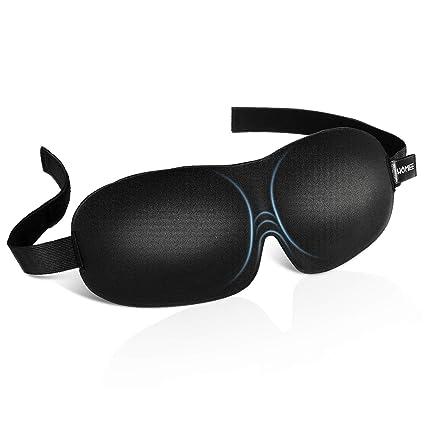 f0ef1adf93 HOMIEE Antifaz para Dormir, 3D Máscara para Dormir con Ajustable Correa,3D  Antifaces para