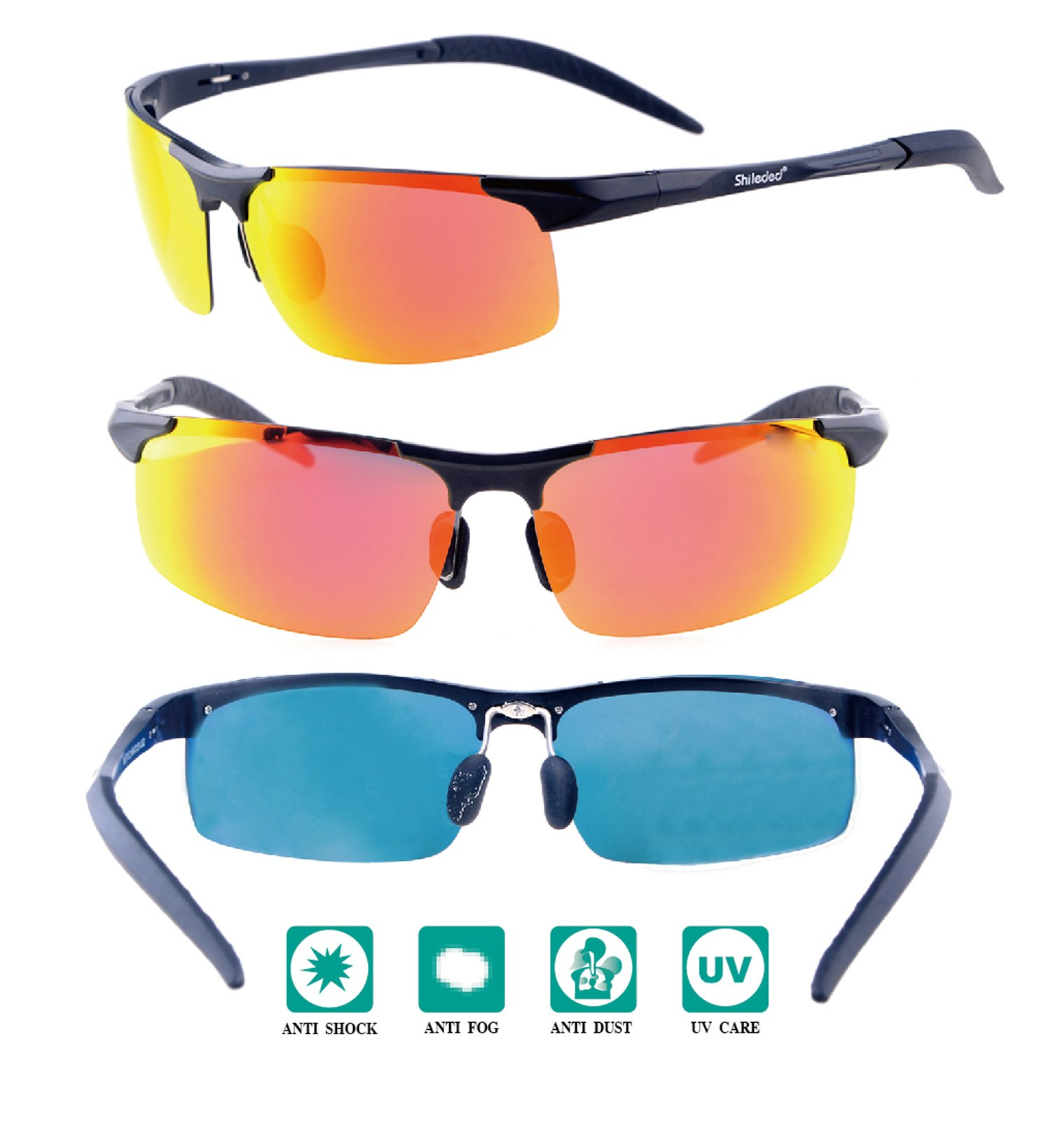 Sxacntg Cycling Glasses,Fishing Golf Glasses Polarized UV Protection Sunglasses,Sports Sunglasses High Grade for Outdoors Durable Frame for Men/Women/Boy/Girl by Sxacntg (Image #2)