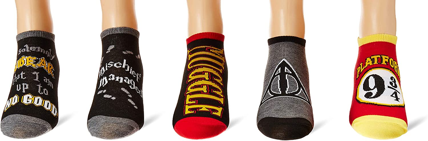 Harry Potter Mischief Managed Marauders Map 5 Pack Ankle Socks