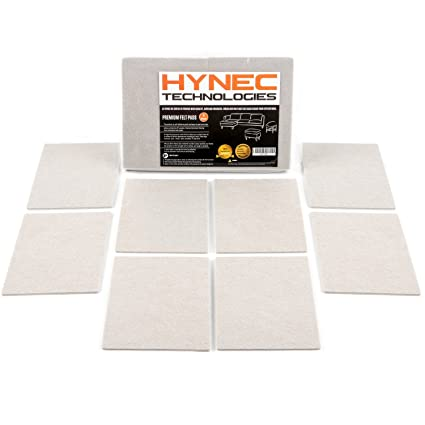 Hynec Premium Furniture Felt Pads Set Self Adhesive Stick On Floor  Protection (8 Large Pieces