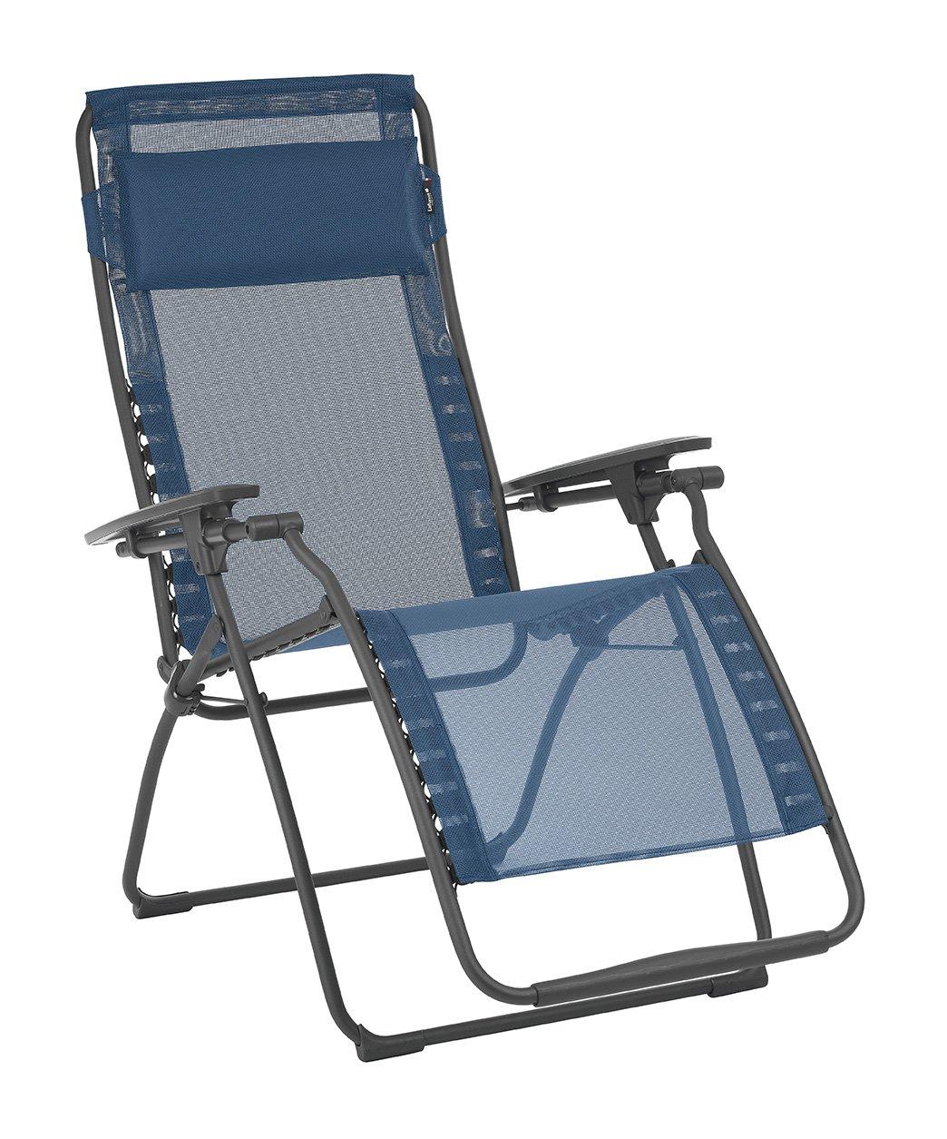 Lafuma LFM3118-8547 Futura Zero Gravity Recliner-Basalt Steel Frame, Ocean Batyline Fabric