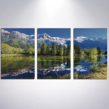 Amazon Com 3 Piece Canvas Wall Art Outdoor Canvas Painting Home