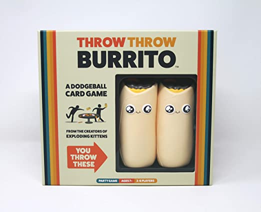 Throw Throw Burrito by Exploding Kittens - A Dodgeball Card Game - Family-Friendly Party Games - Card Games for Adults, Teens & Kids - Juego de Cartas en Inglés: Amazon.es: Juguetes y juegos