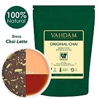 Original Masala Chai VAHDAM Inde - 100g (50 tasses) - Chai épicé, thé en feuilles - mélange délicieux du thé noir CTC Assam CTC aux épices indiennes fraîches - cardamome, cannelle, poivre noir et clous de girofle, mélangé & expédié de l'Inde