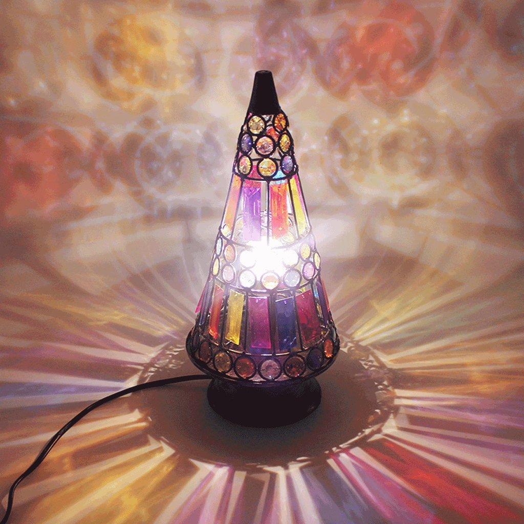 MLMH MLMH MLMH Tischlampe Der Pyramide Warmes Licht Nachttischlampe Kreative Desktop-Dekoration Lampe Tischlampe (Farbe   rot) B07H3MDRCC | Abgabepreis  1023be