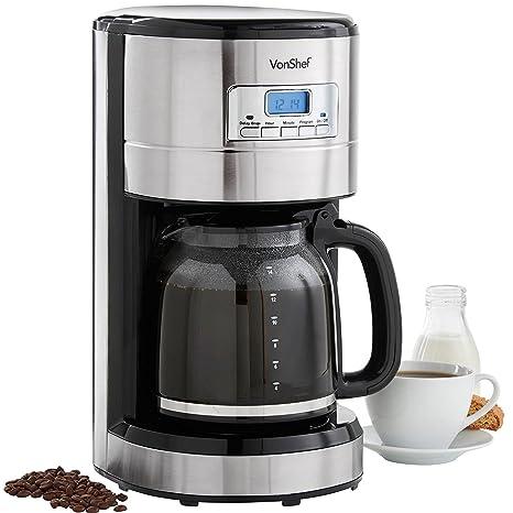 Amazon.com: Vonshef – 220 a 240 voltios Cafetera eléctrica ...