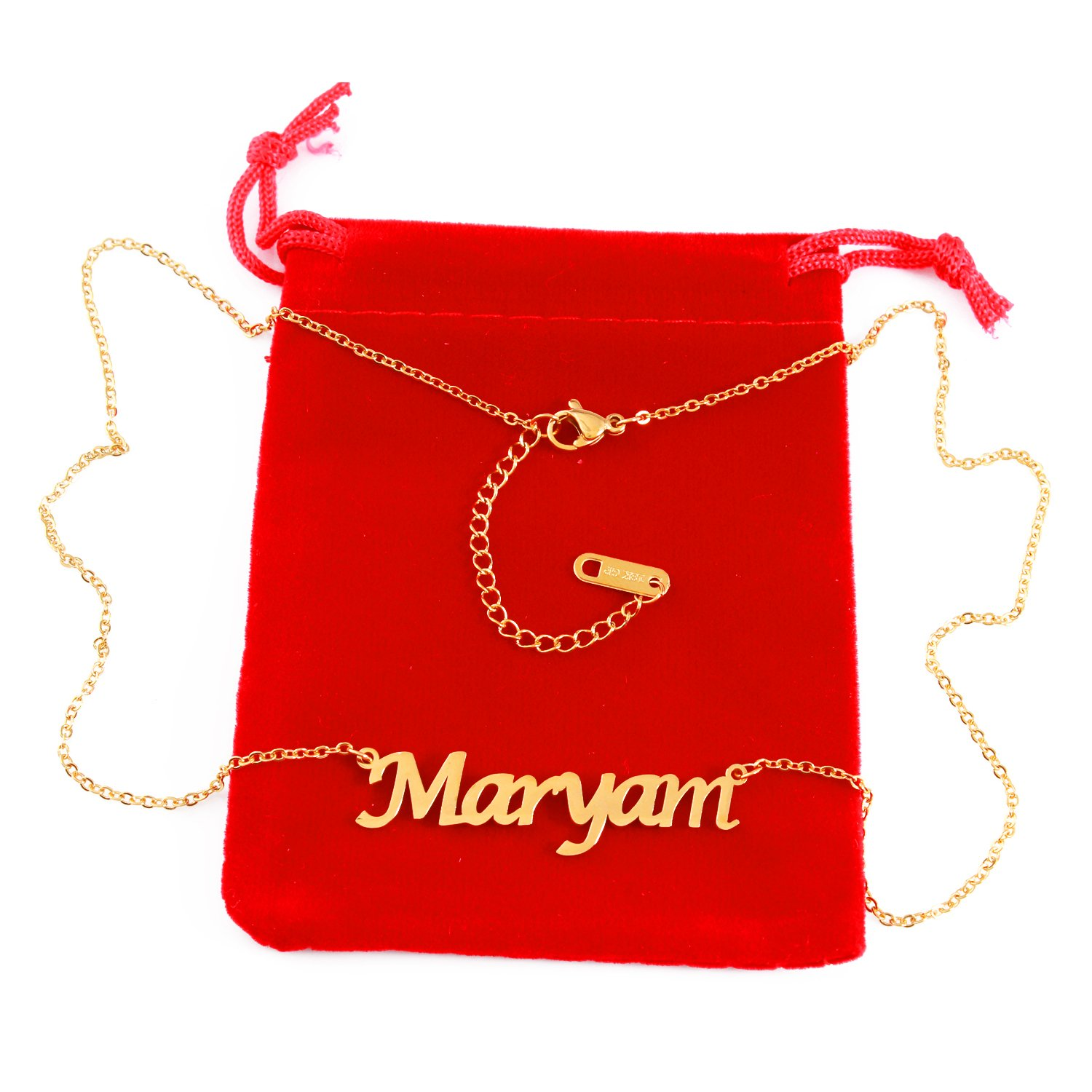 Zacria Maryam Name Necklace 18ct Gold Plated