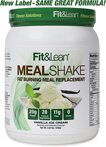 Fit Lean Fat Burning Meal Replacement Vanilla 0 97 Lb