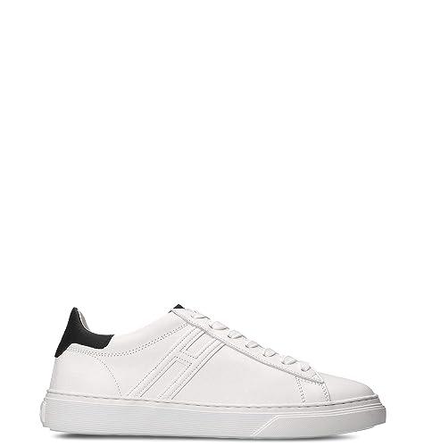 wholesale dealer 3a7ce 0f667 Hogan Sneakers Uomo HXM3650J960KFN0001 Pelle Bianco: Amazon ...