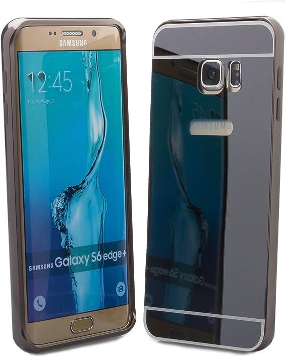 iCues Samsung Galaxy S6 Edge + Plus (5,7 Pulgadas) Amarillo Cromo del Negro | Marco de la Cubierta del Cromo de iPhone Funda Carcasa Bolsa Cover Case: Amazon.es: Electrónica