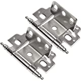 "10 Pair Pack - Cosmas 13180-SN Satin Nickel 3/4"" Inch Full Inset Partial Wrap Ball Tip Cabinet Hinge"