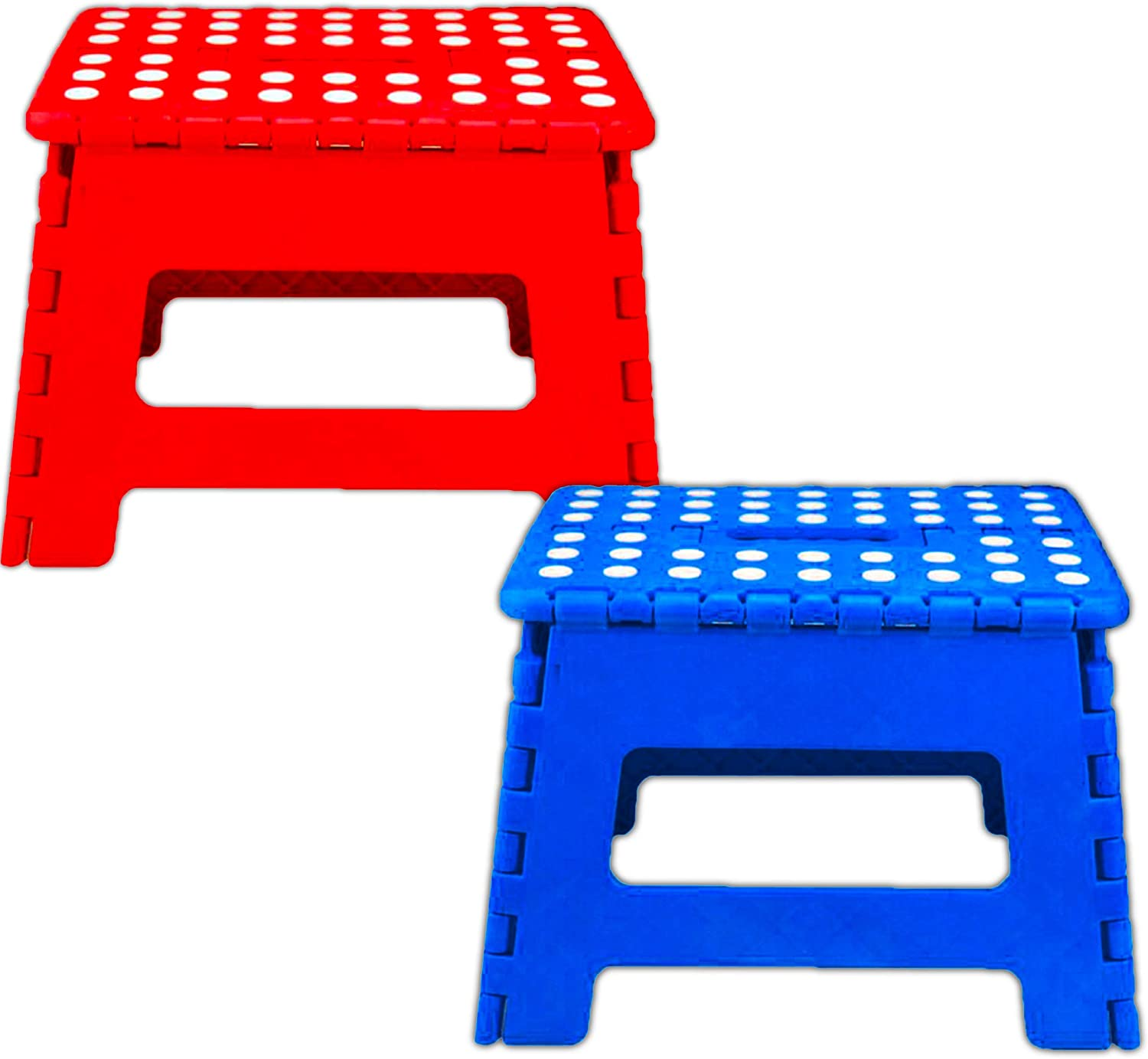 Heavy Duty Folding Step Stool 2 Collapsible Stepping Stool Momentum Brands Folding Step Stools for Adults Kids ~ 2 Pack Folding Step Stool 11 Inch High