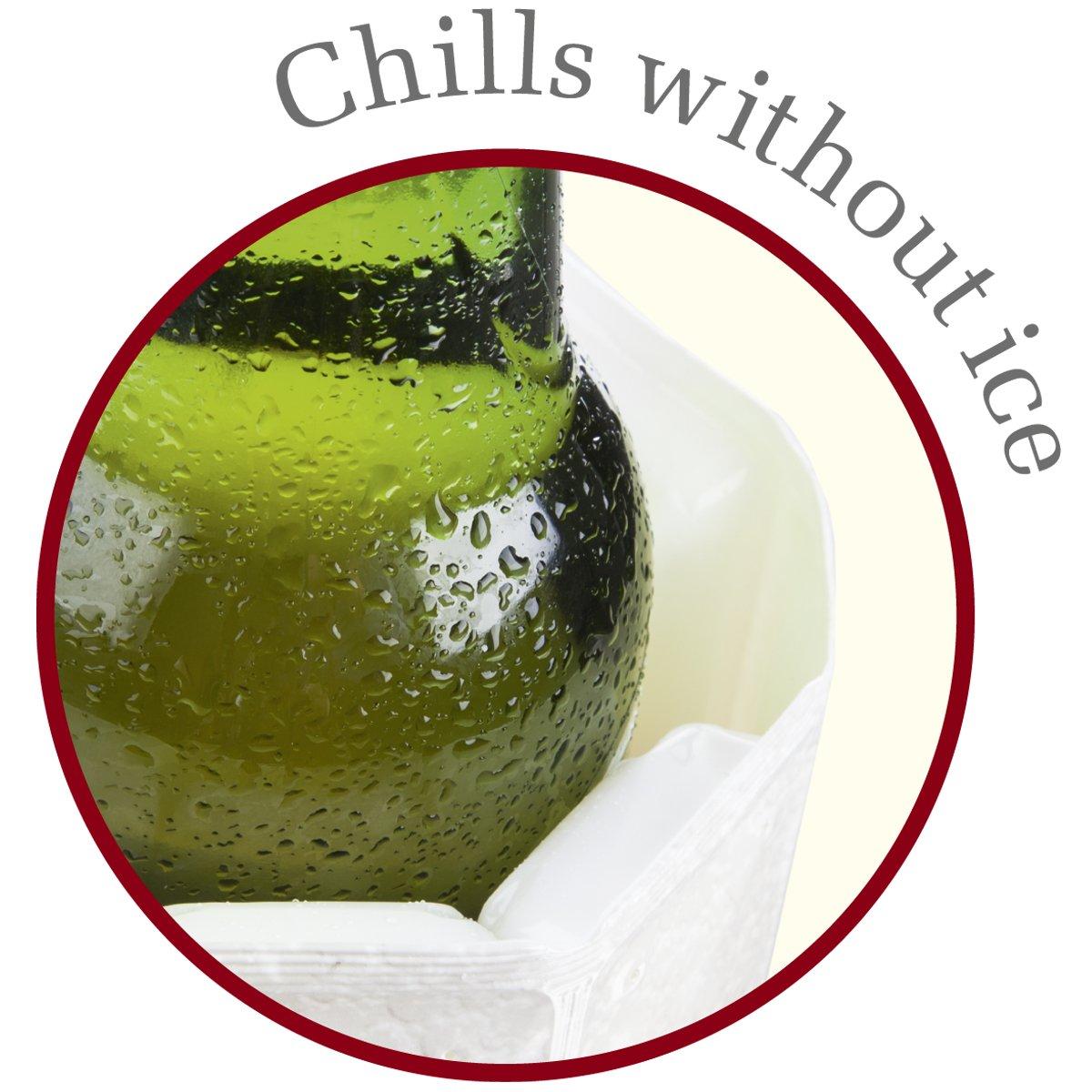 Vacu Vin Rapid Ice Wine Cooler - Chrome by Vacu Vin (Image #5)