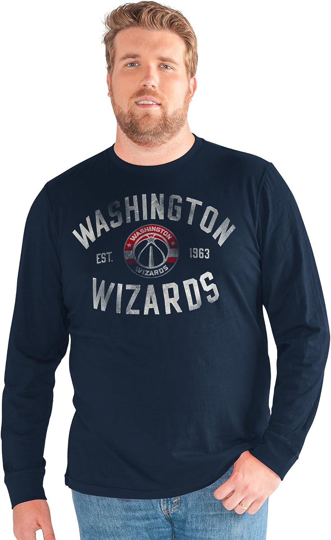 Navy 3X G-III Sports NBA Washington Wizards Big Man Bank Shot Long Sleeve Top