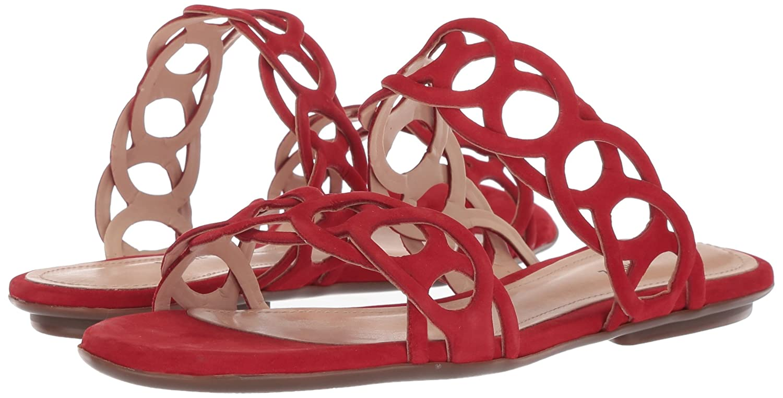 SCHUTZ Women's Yaslin Slide Sandal B07524F453 6.5 B(M) US|Scarlet