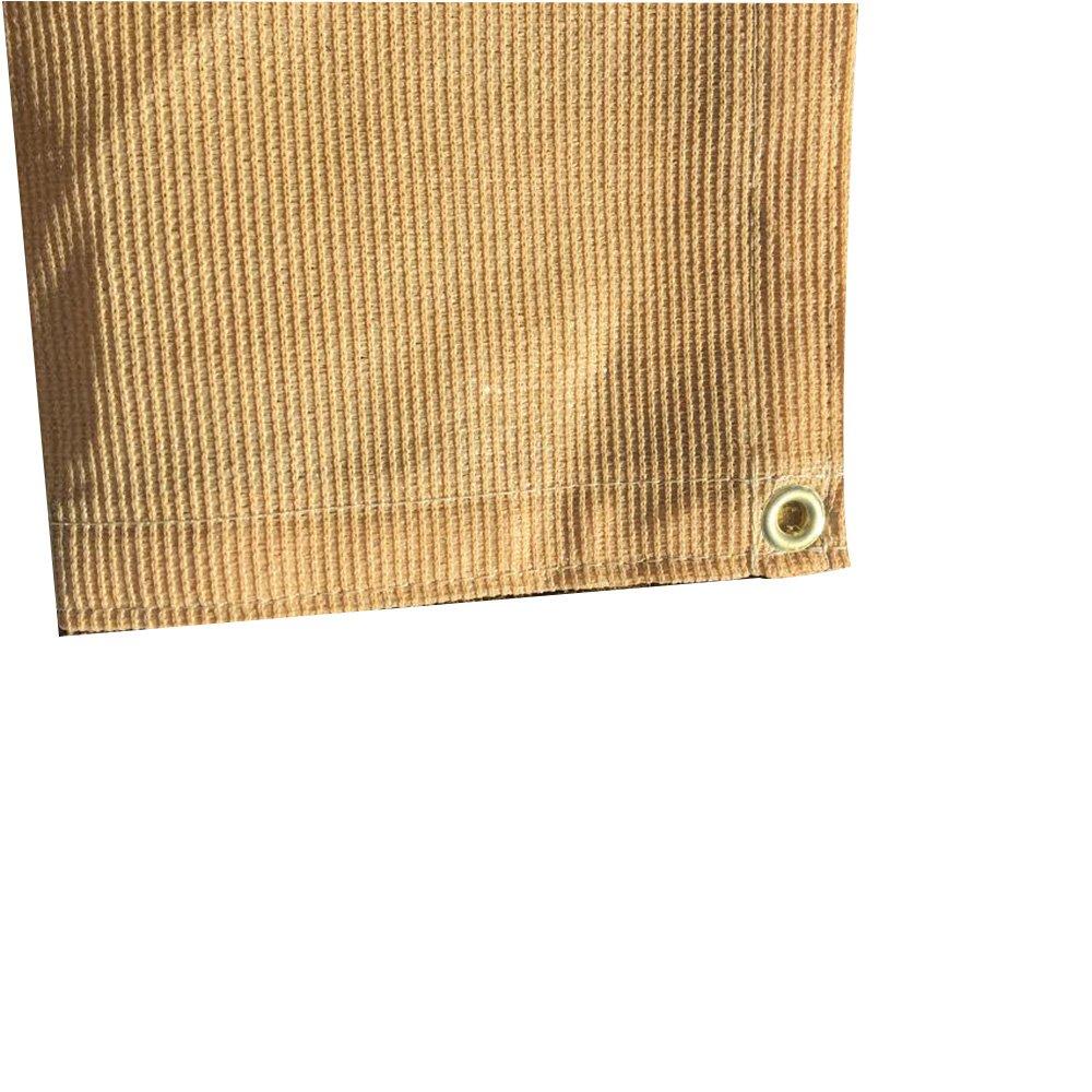 TAN Color Sun Shade - 7 OZ Premium 90/% Shade Cloth x 10 ft 6 ft XTARPS Shade Sail