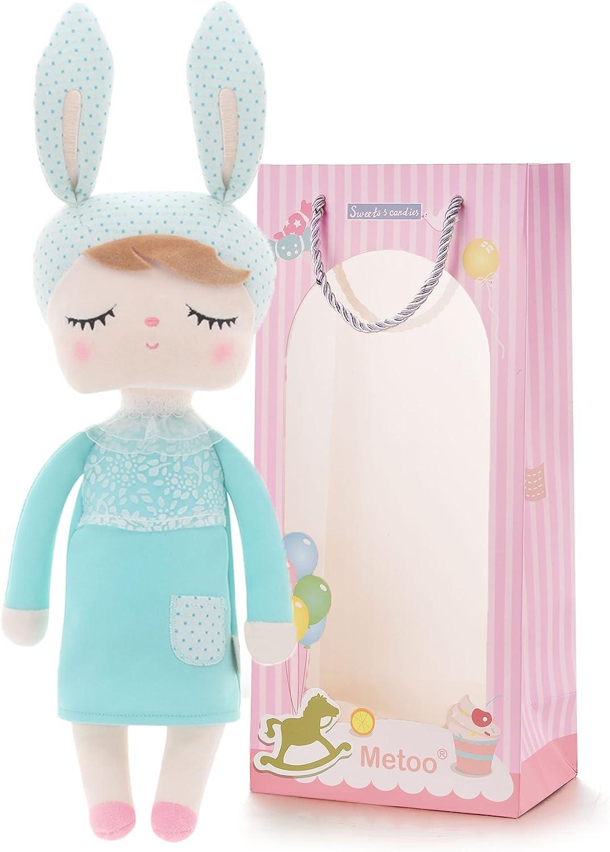 Regalos de Conejito de Pascua Muñecas de Conejo de Peluche Muñecas Angela Que Duermen con la Bolsa de Regalo Mint Green 12