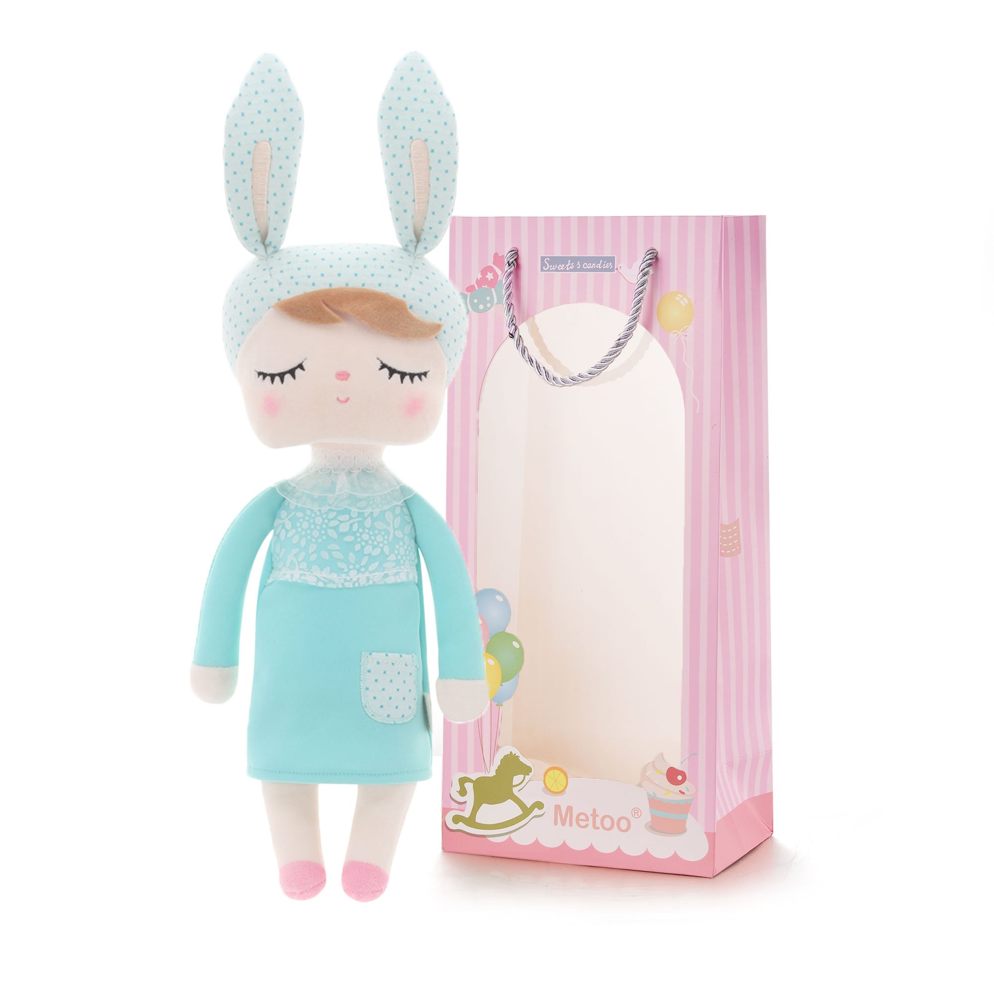 6218569ea9c Amazon.com   Easter Gifts Baby Doll Girl Gifts Stuffed Bunny Super Soft Plush  Rabbit Toys 12