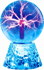 Plasma Ball, RAYWER 6 inch Touch & Sound Sensitive Plasma Globe, Blue Nebula Novelty Lamp, Christmas, Party, Gift, Decoration