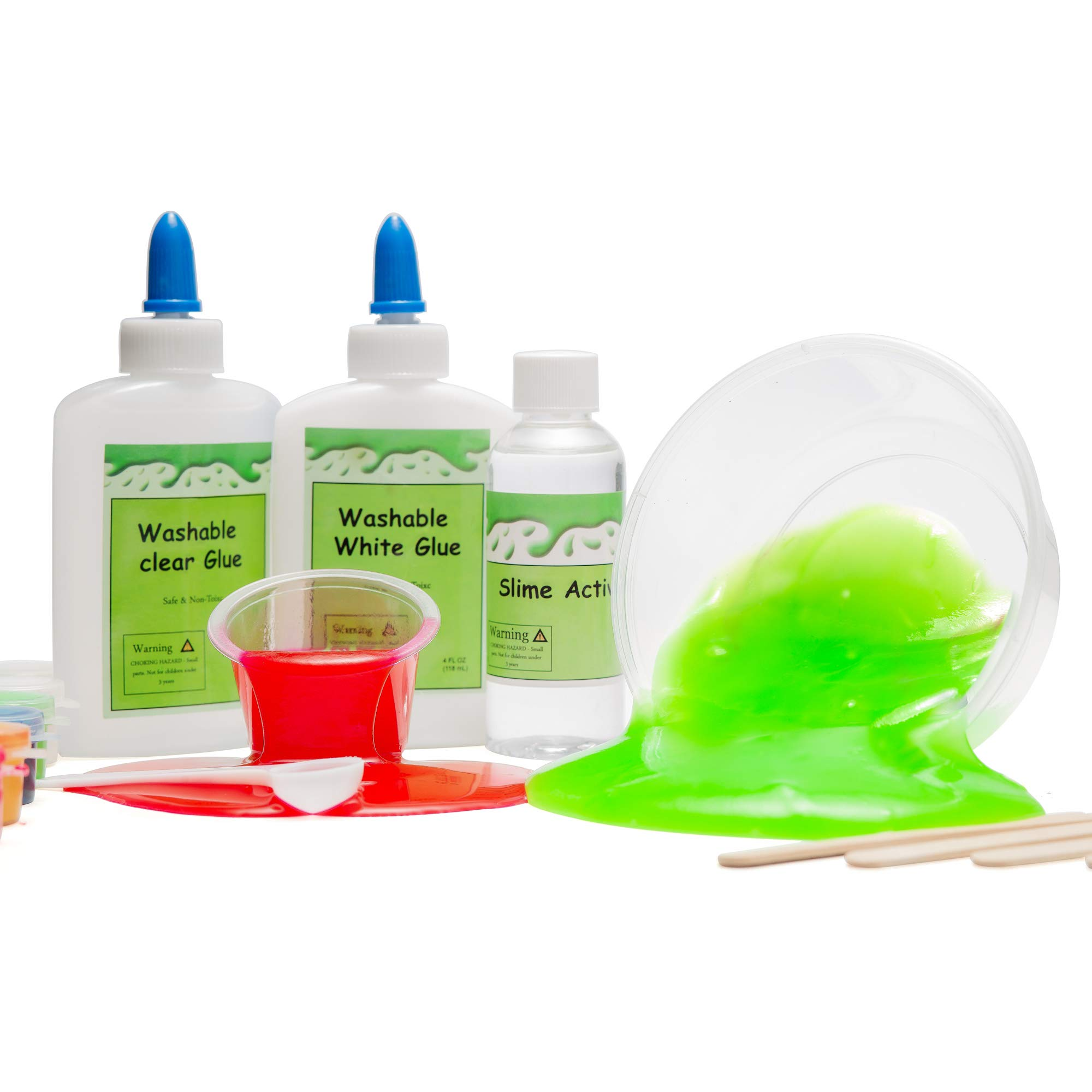 DIY Slime Kit -Learn how to make slime! Make Glow-In-The Dark, Clear, Neon and Glitter Slime - Perfect Gifting Option! Comes With Easy To Make Recipes! Super Slime Making Kit for Boys & Girls! by InStyleCraft (Image #6)