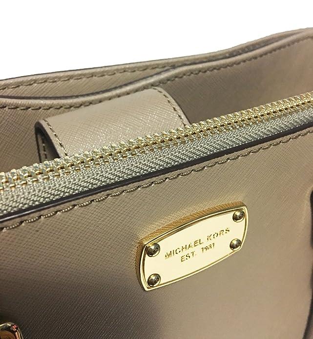 065b275ef209 MICHAEL Michael Kors Medium Kellen Leather Satchel Bag (Dark Taupe)   Handbags  Amazon.com