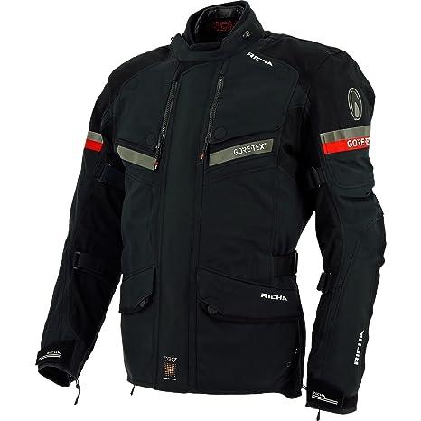 Richa Atlantic GTX 100% impermeable Gore Tex chaqueta para motorista, hombre, negro