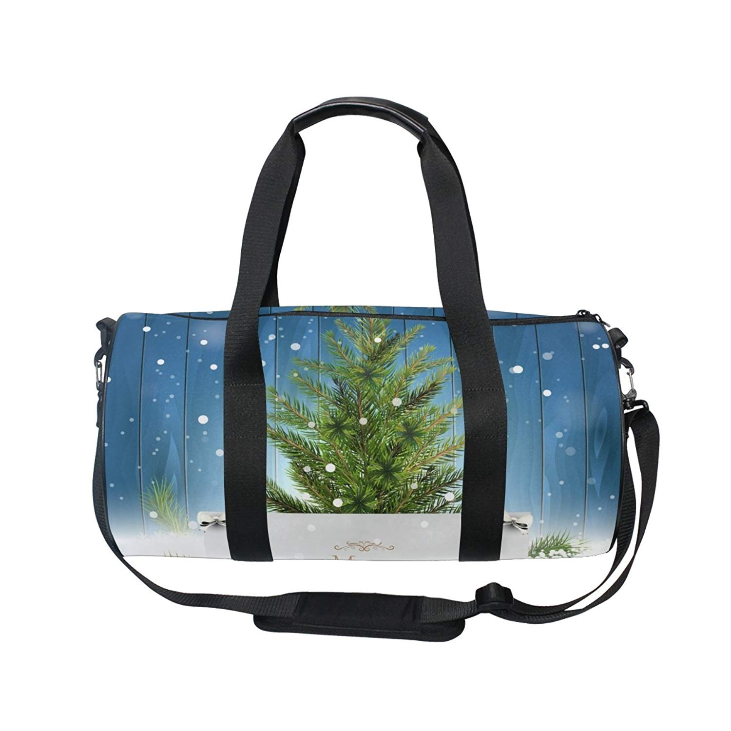 New Year Christmas Tree Ball Snowflake Sports Shoulder Handy Duffel Bag