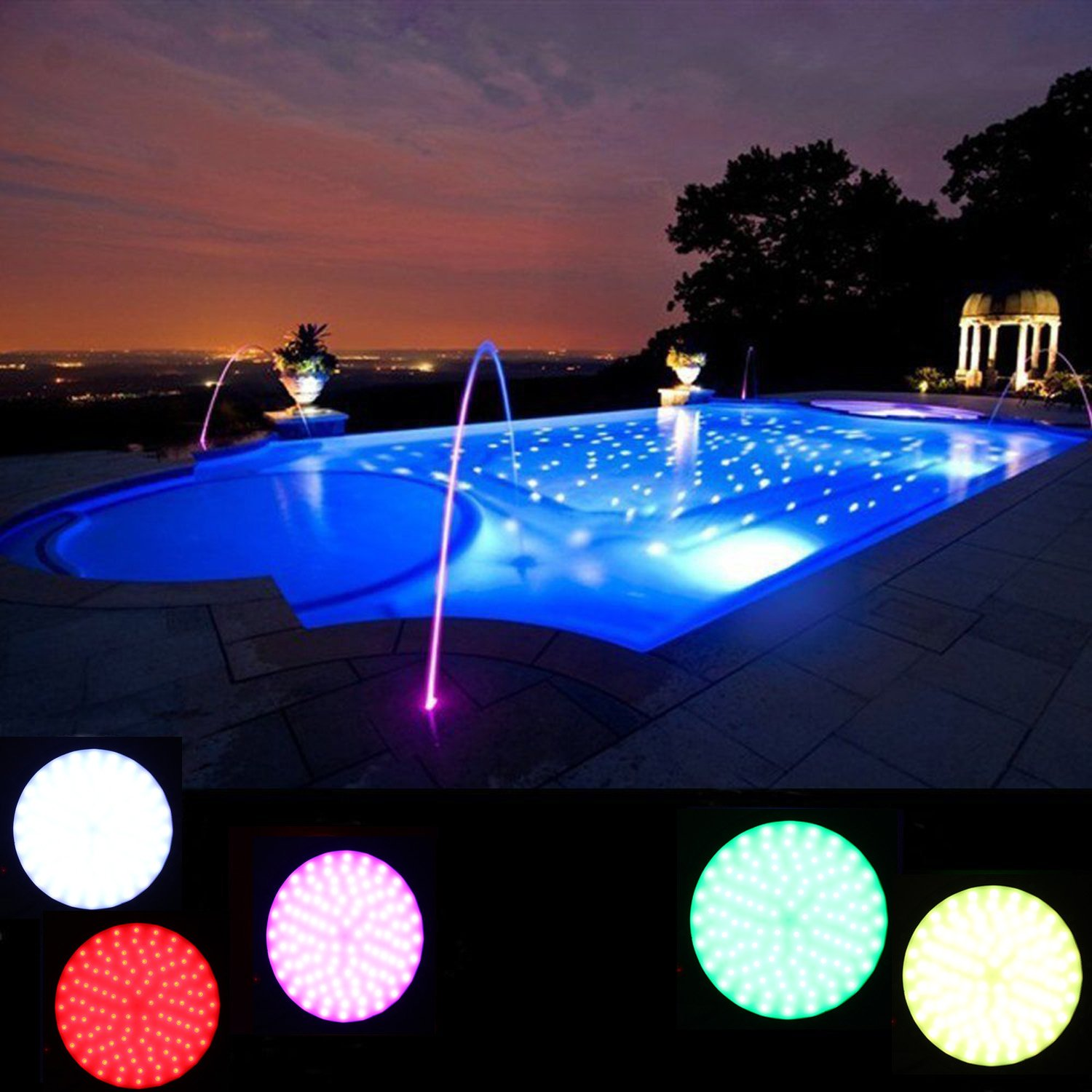 Amazon chinly 120v 18w rgb color changing replacement swimming amazon chinly 120v 18w rgb color changing replacement swimming led pool lights bulb led par56 switch control remote control type for pentair arubaitofo Images