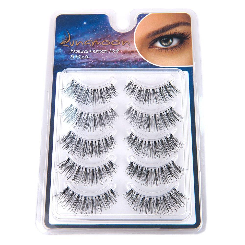 Amazon Lunamoon 100 Human Hair Natural False Eyelashes 5