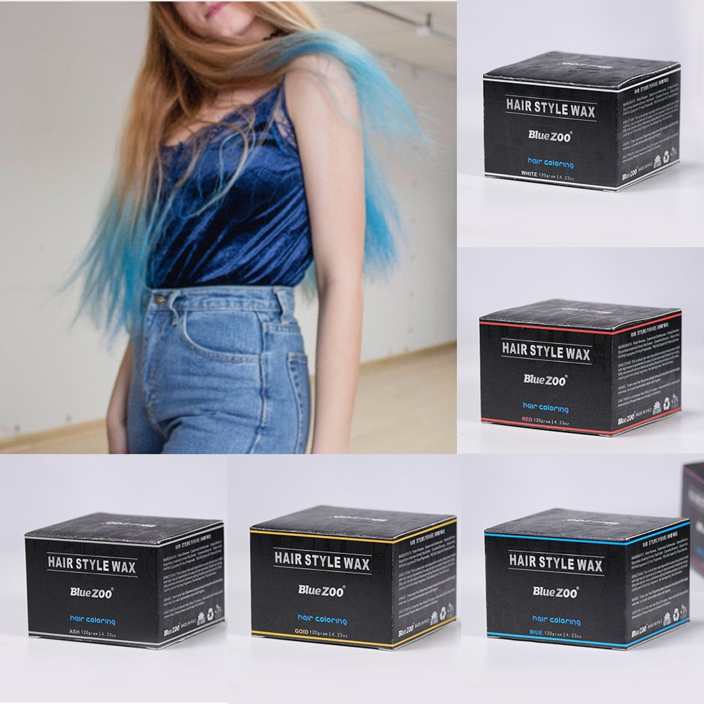 BlueZOO 120g Disposable Temporary Hair Color Pomade Unisex DIY Natural Hairstyle Wax Mud Dye Cream,Easy to Washable by Bluezoo (Image #6)