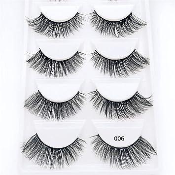 b615faa3b9a Amazon.com : New 5 Pairs Real Mink Fake Eyelashes 3D Natural False  Eyelashes Mink Lashes Soft Eyelash Extension Makeup Kit Cilios 02 06 :  Beauty
