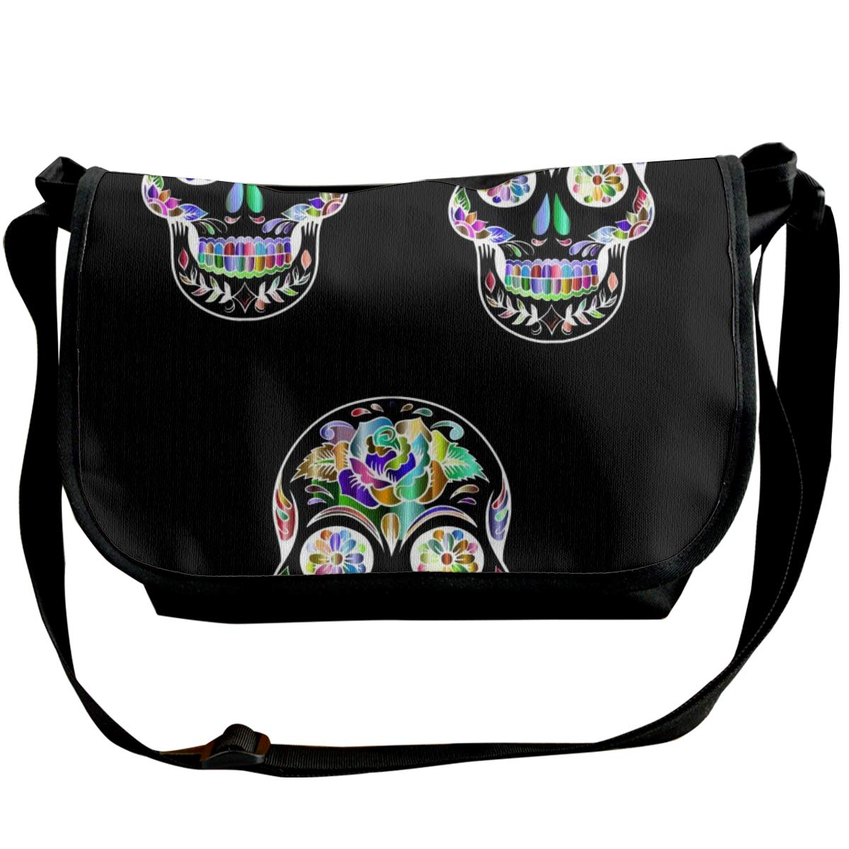 Suger Skull Unisex Crossbody Single Shoulder Bag With Shoulder Girdle Cellphone Pouch Purse Wallet