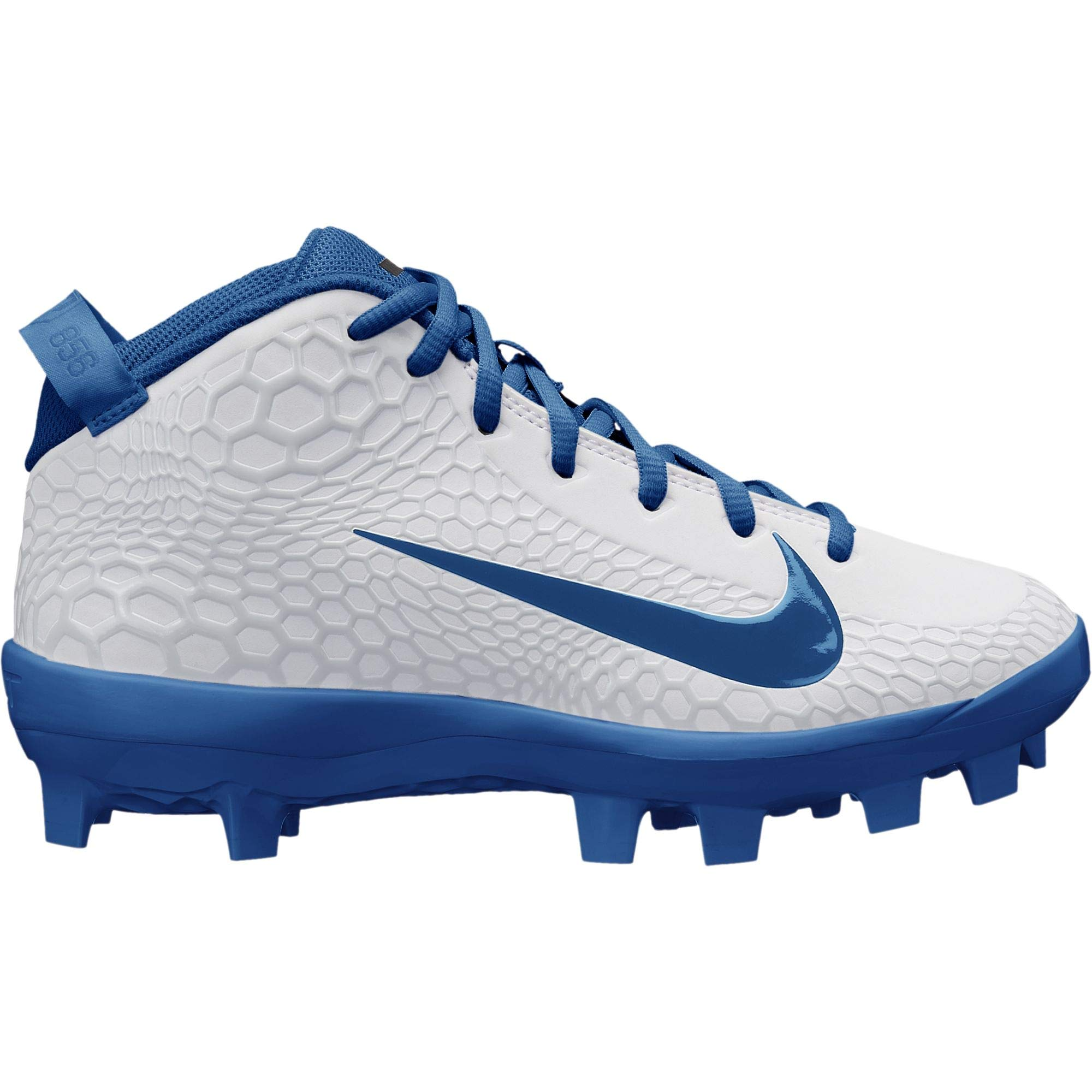 Nike Kids Force Trout 5 Pro MCS Baseball Cleat White/Gym Blue Size 1 M US by Nike