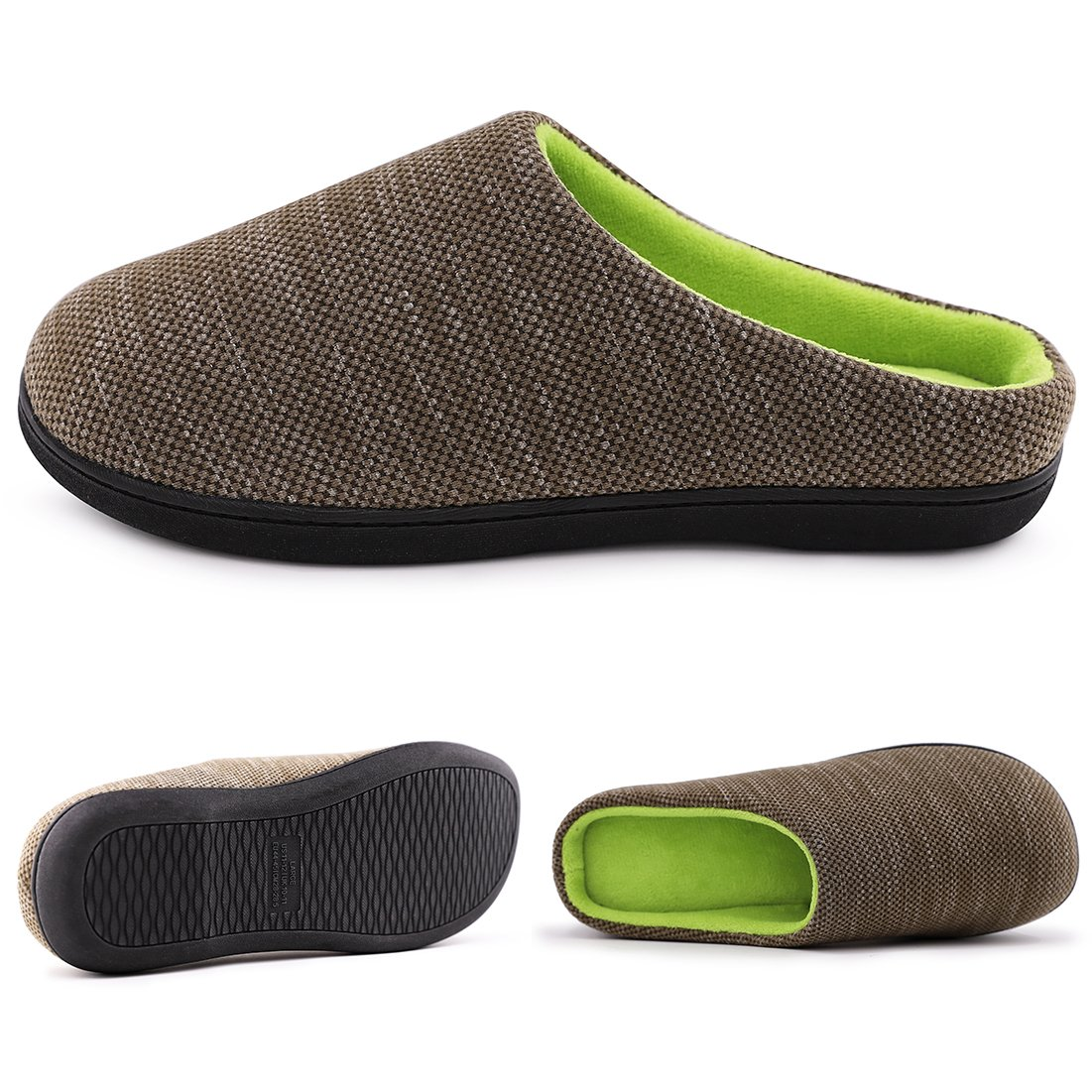 RockDove Men Birdseye Knit Memory Foam Slipper