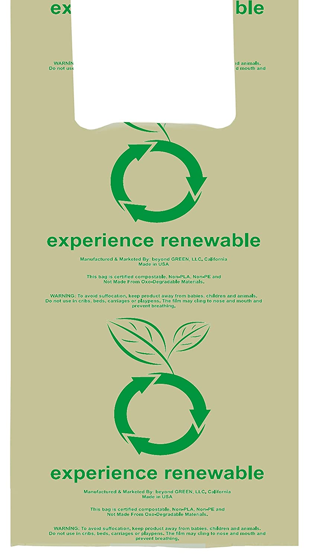 100 bolsas biodegradables para la compra, estilo camiseta, bolsas ...