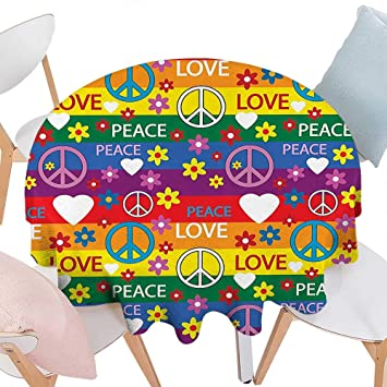 Amazon Com Everyday Kitchen Tablecloth Groovy Decorations Heart