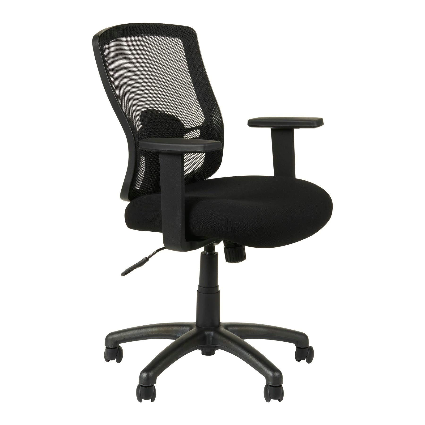 Alera Etros Series Mesh Mid-Back Swivel/Tilt Chair, Black