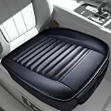 Sunny color 2pc Filling Bamboo Charcoal Edge Wrapping Car Front Seat Cushion Cover Pad Mat for Auto with PU Leather…