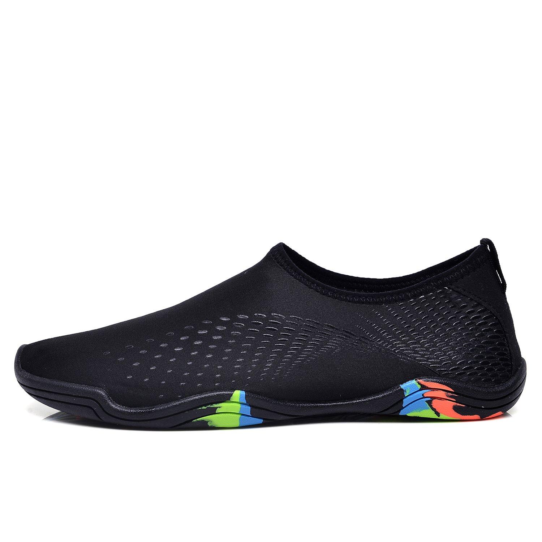 LeKuni Mujeres Los hombres descalzos Zapatos de agua rápidos Secado de Aqua  Shoes para Piscina Beach Yoga Gym Deportes Yw black f06d7429f46