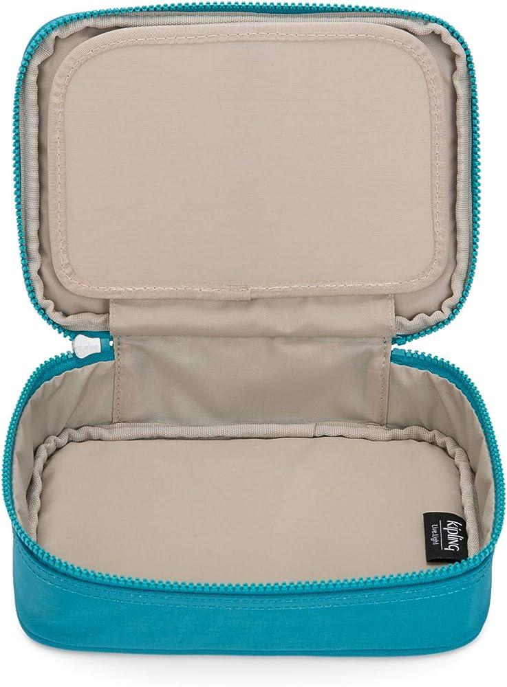 Kipling - Estuche para 100 bolígrafos, Azul (Bloque metálico de mar turquesa), Talla única: Amazon.es: Bricolaje y herramientas