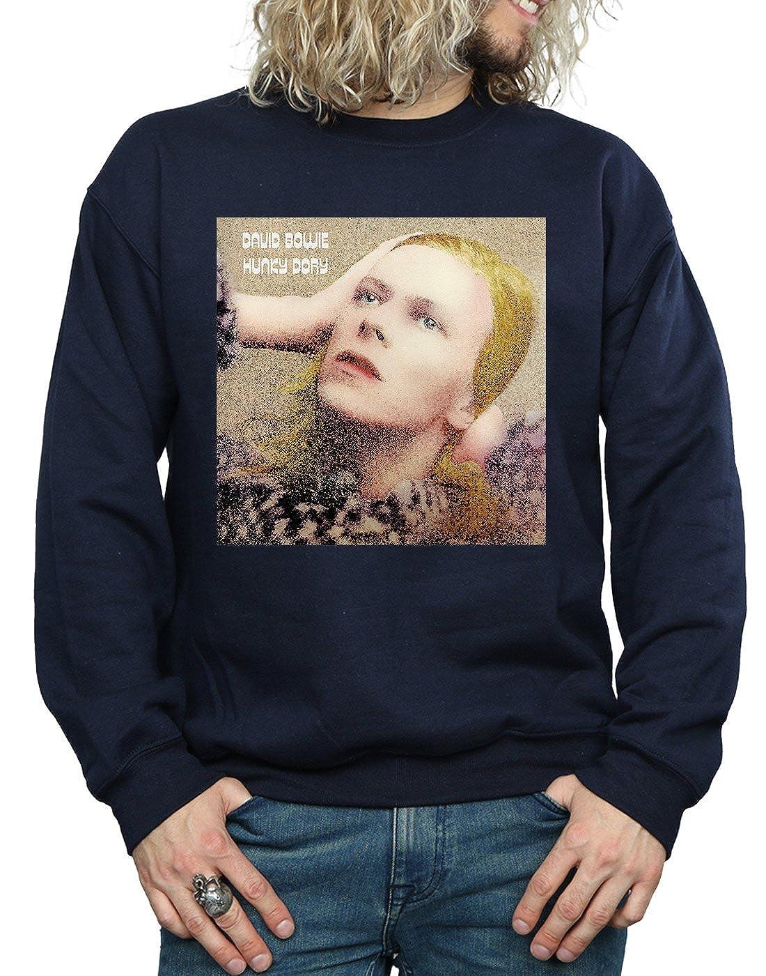 669f8b4bec3d Absolute Cult David Bowie Homme Hunky Dory Album Cover Sweat-Shirt Bleu  Marin Large  Amazon.fr  Vêtements et accessoires