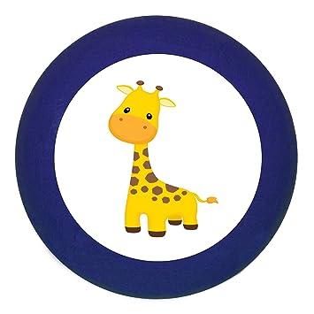 KommodengriffNashorn gelb Holz Buche Kinder Kinderzimmer 1 St/ück wilde Tiere Zootiere Dschungeltiere Traum Kind