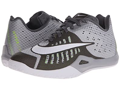 NIKE Men's Hyperlive Basketball Shoe Wolf Grey/Pure Platinum/Dark Grey/White  Size