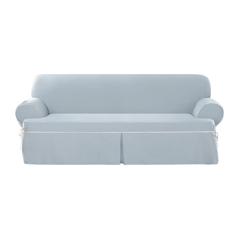 Amazon: Sure Fit Cotton Duck - Sofa Slipcover - Cocoa/Natural  (SF40812): Home & Kitchen