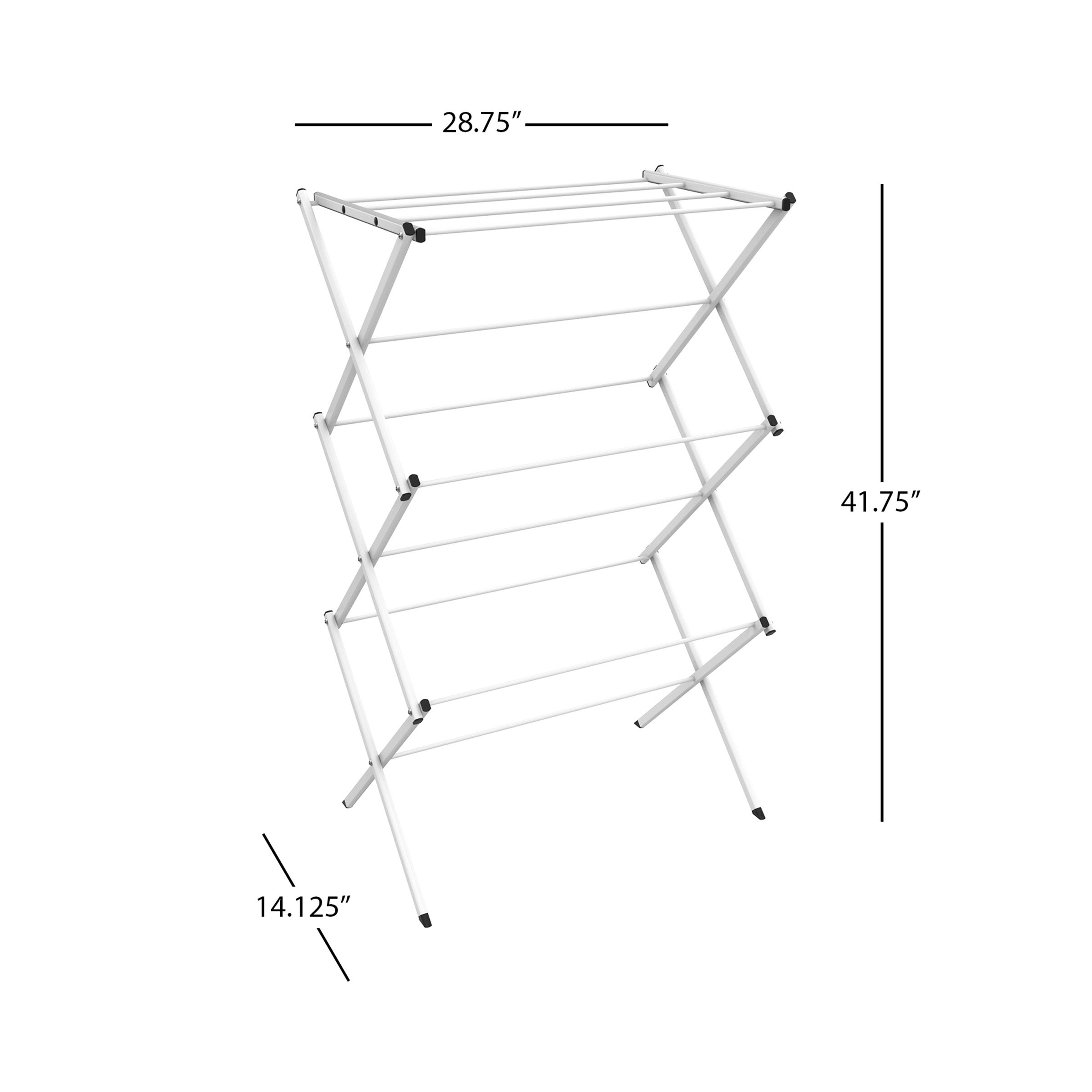 Lavish Home Clothes Drying Rack-24ft. of Drying Space-Collapsible and Compact for Indoor/Outdoor Use-Portable Stand for Hanging, Air-Drying Laundry by Lavish Home (Image #2)
