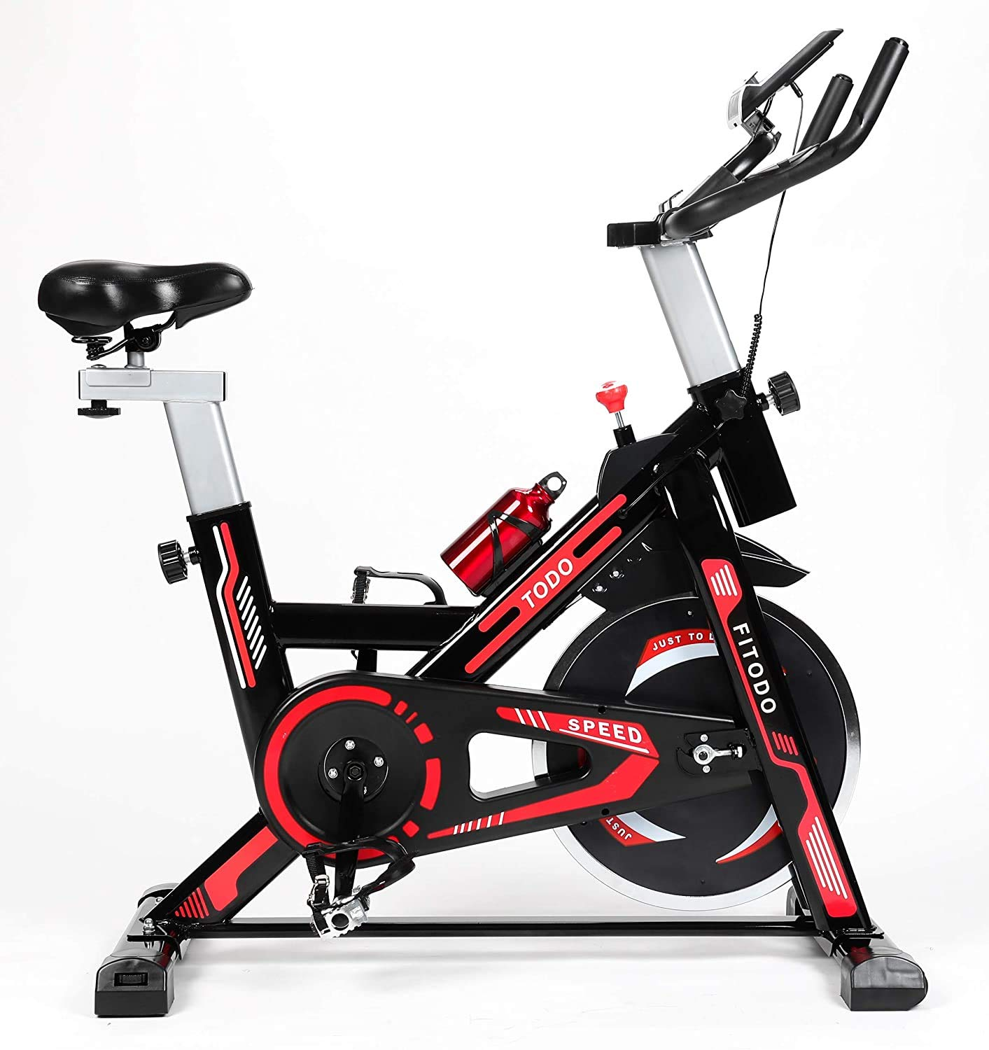 TODO Exercise Bike Stationary Indoor Cardio Training Cycling Bike with LCD Monitor