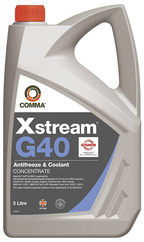 Comma XSG405L 5L Xstream G40 Antifreeze and Coolant Concentrate Comma Oil & Chemicals Ltd. B0052X4C5Y
