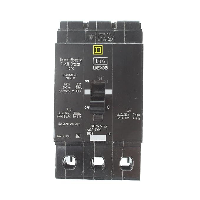 EDB34015 SQUARE D SCHNEIDER ELECTRIC Bolt-on EDB Circuit Breaker