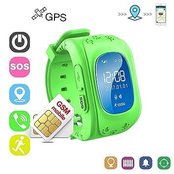 Reloj Localizador Niños GPS Localizador Niños Pulsera Pulsera Niños Seguridad GPS Reloj Niña GPS Smartwatch Niños Localizador GPS Seguimiento en ...